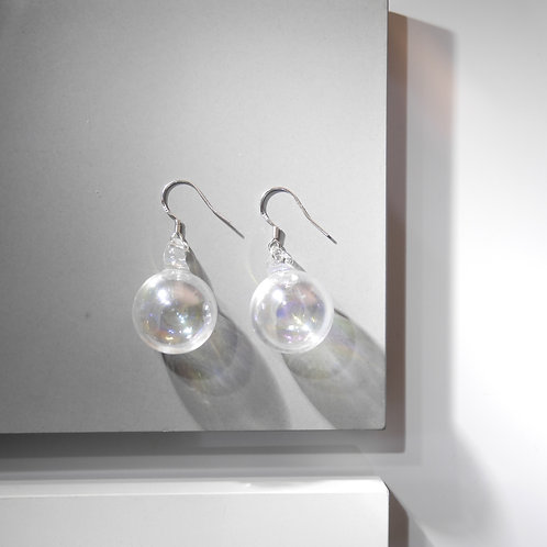 HOLOGRAM BUBBLE DRINK 925 SLIVER EARRINGS
