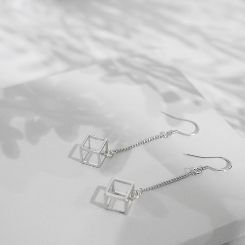 925 Sterling Sliver Cubic Drop Earrings