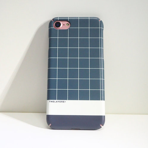 GRAPHIC PRINT - GRID FOREST MATTE iPhone Case