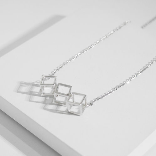 925 Sterling Sliver Cubic Necklace