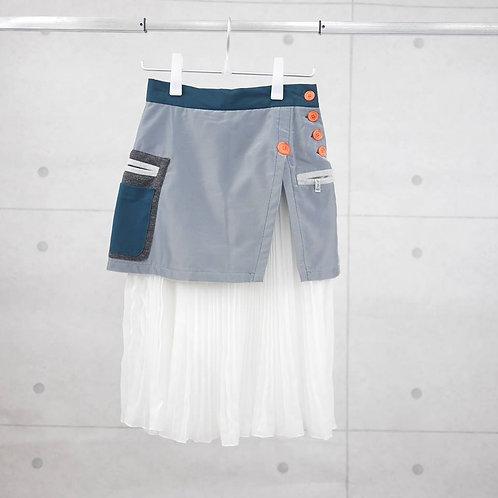 SSU 009- Space Knit Striped Skirt