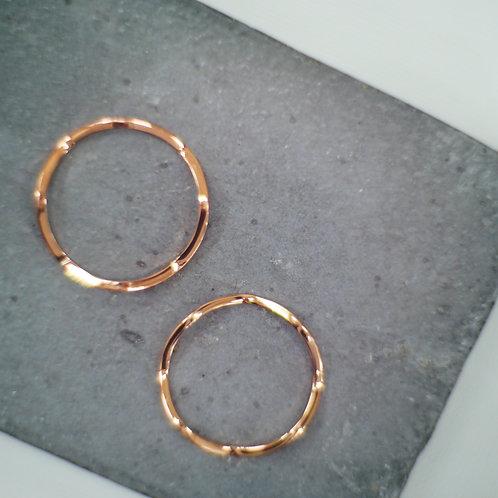 18K Rosegold Wave Ring