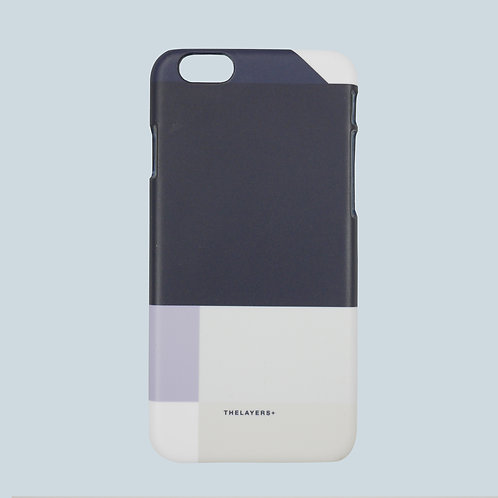 GRAPHIC PRINT - NAVY MONO iPhone Case