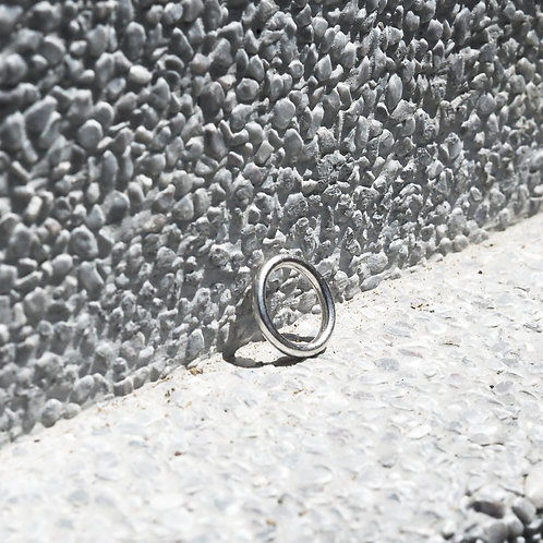 925 Sterling Sliver Minimal Plain Band Ring | 2.5mm