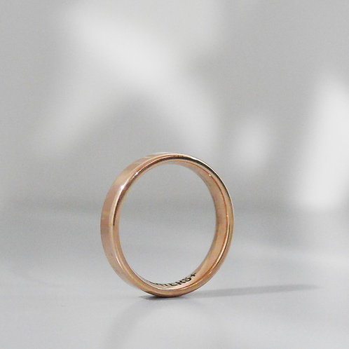 Personalized Engraving Minimal 18K Ring in Rose Gold
