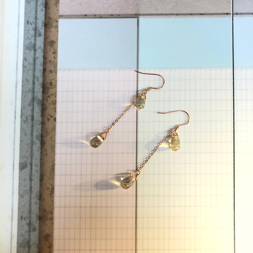 """""""WE'RE GOLDEN' Up N' Down Water Dropped 18K Rose Gold Earrings"""