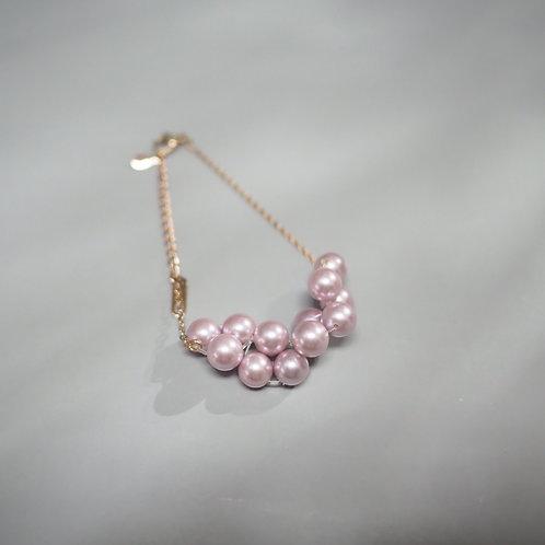 FALALALALA ROSE PINK PEARL BRACELET | CLOUD SHAPE