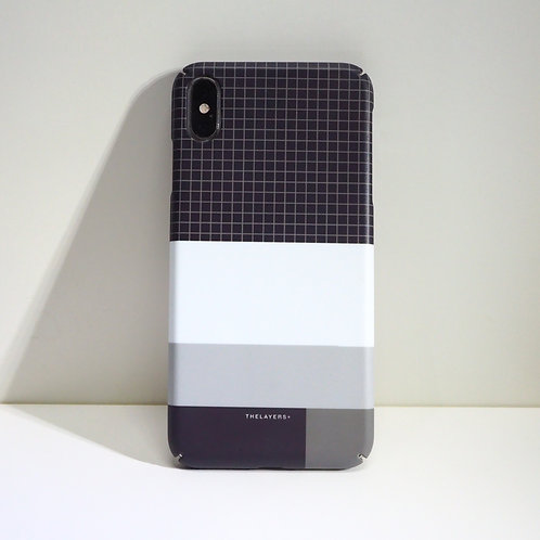 GRAPHIC PRINT - MONO GRID iPhone Case