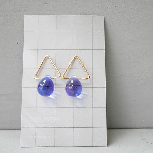 Blue Moon Glaze 18K Rose Gold Triangle Earrings