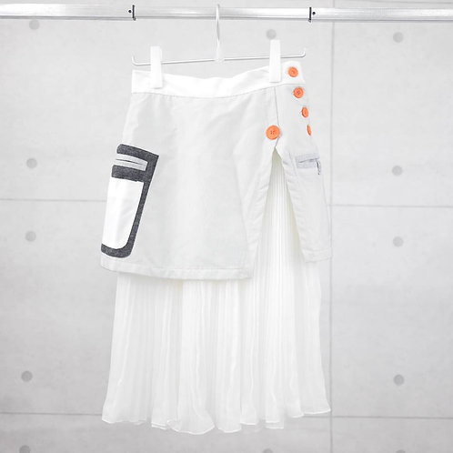 SSU 004- Space Knit Pleated Layered Skirt