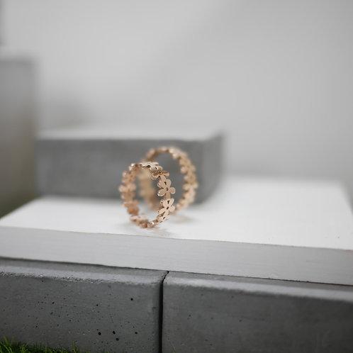 Rosegold Floral Ring