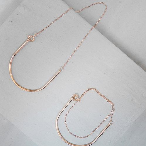 18k Rose Gold Layer Bracelet