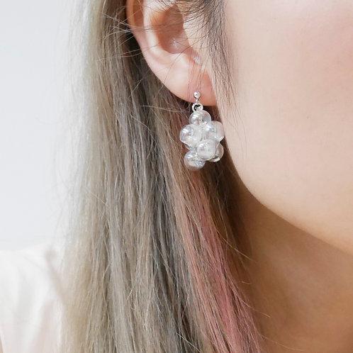 925 Sliver Holographic 001 Bubble Bubbles Earrings