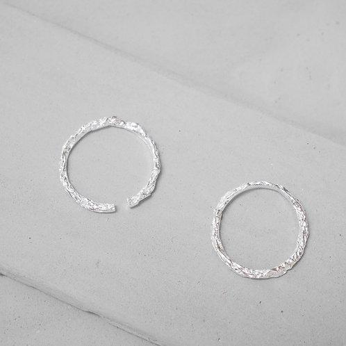 925 Sliver Aluminum Foil Textured Ring