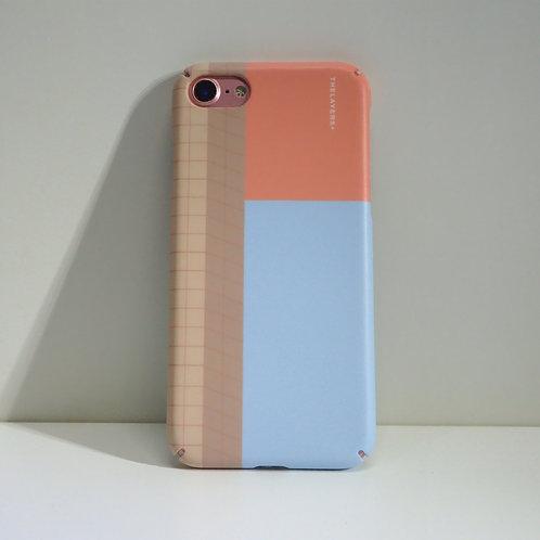 GRAPHIC PRINT - BLUE KISSES iPhone Case