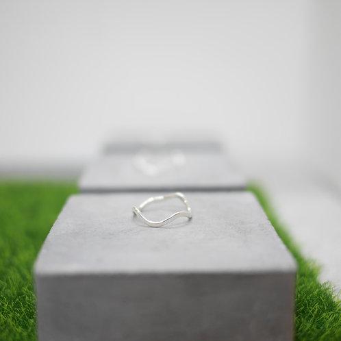 925 Sliver Wave Ring