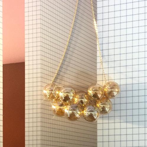 """""""WE'RE GOLDEN"""" Bubble Bubbles 18K Rose Gold Necklace"""