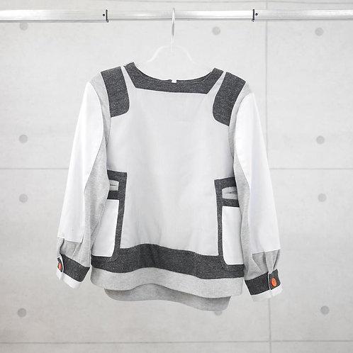 SSU 001- Space Knit Striped Top