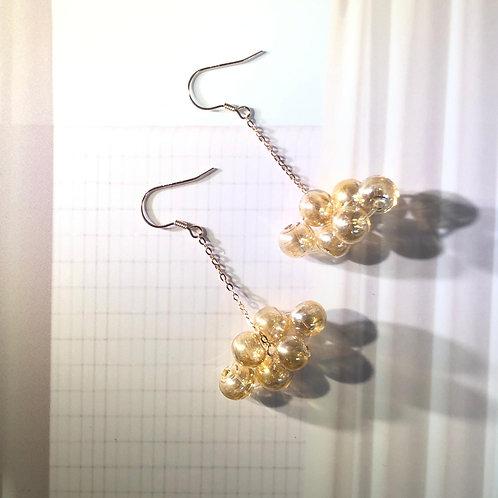 """""""WE'RE GOLDEN'' Bubble Bubbles 925 Sliver Earrings"""