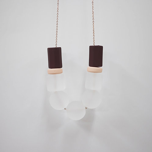 Marshmallow Necklace - SNOWING ROSE