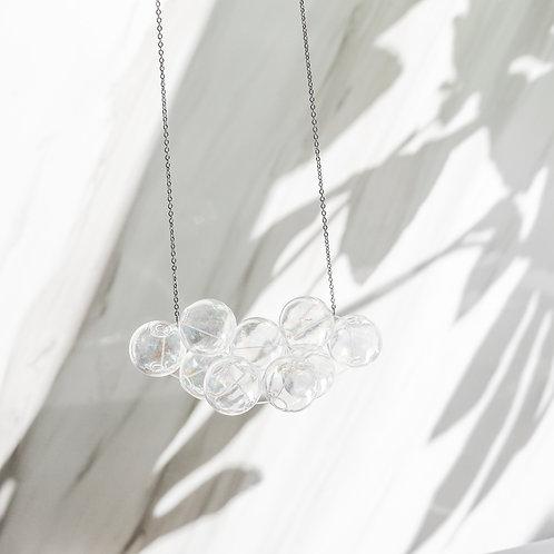 925 Sliver Hologram Bubble Bubbles Necklace