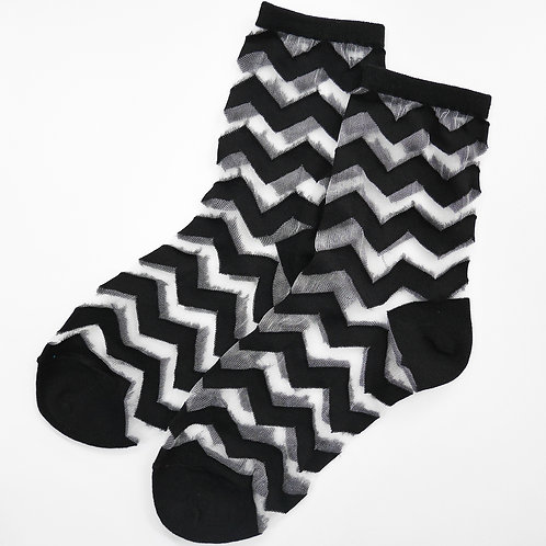 Sheer Wavy Socks