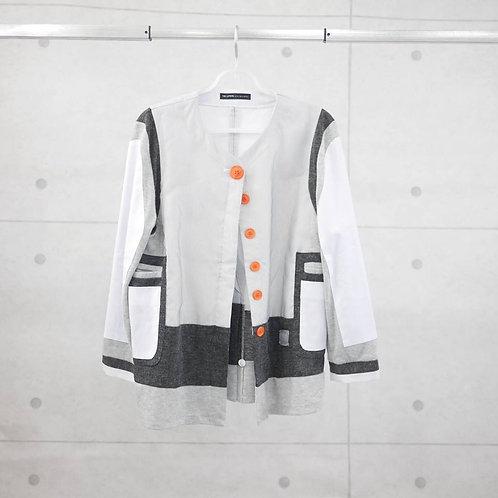 SSU 003- Space Knit Striped 3-ways Coat