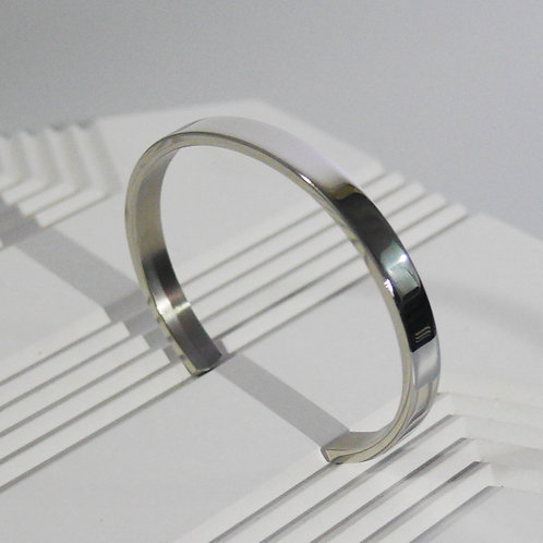 Personalized Engraving 925 Minimal Bangle in Sliver