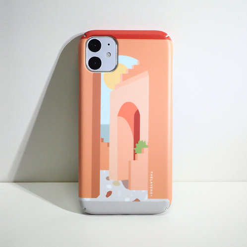 GRAPHIC PRINT - Castillo Rosa Phone Case