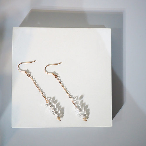 Icelandic Collection |  Dropped 18K Rose Gold Glass Earrings