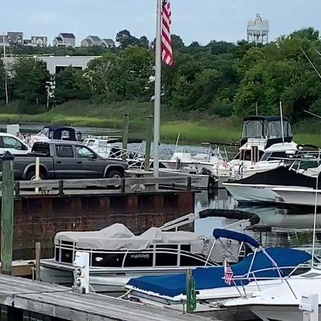 Outfitting the docks at Bunky's Marina with Fender Buckets