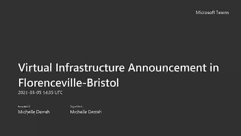 March 5 2021 Infrastructure Announcement