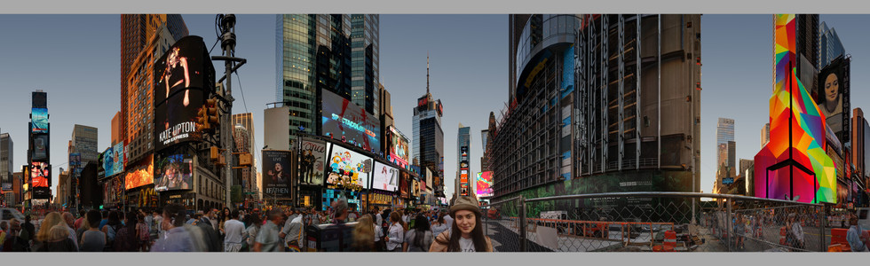 Teresa B. in Times Square