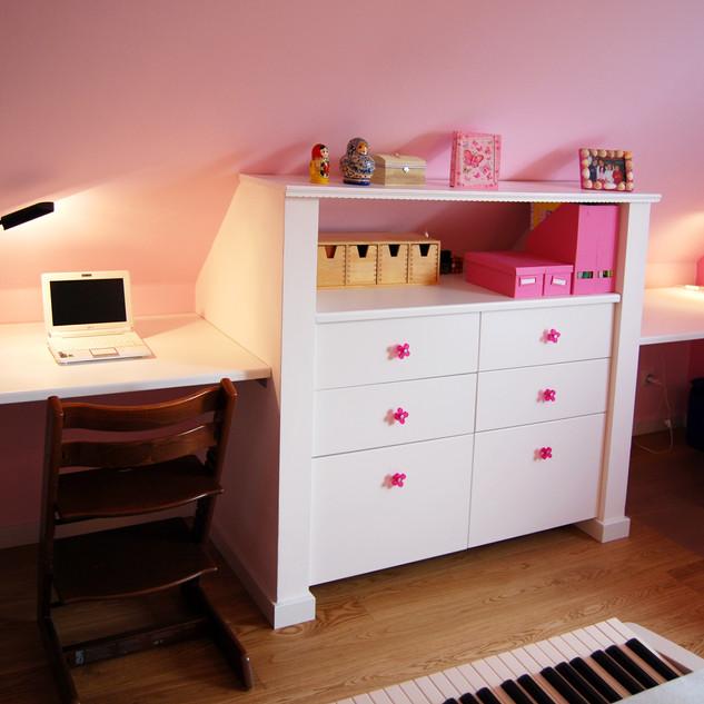 Rénovation chambre fille, La Robertsau, Strasbourg
