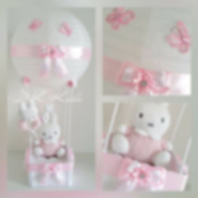 hot air balloon nijntje roze