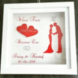 3-D lijst huwelijk cadeau