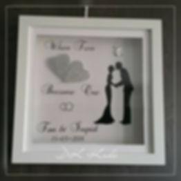 3-D lijst huwelijk cadeau met verlichting