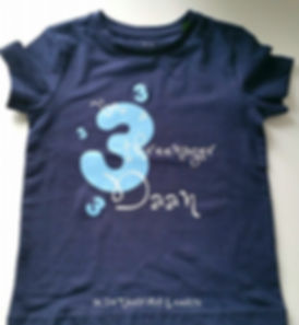 gepersonaliseerde shirt 3 jaar