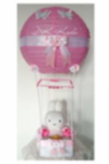 hot air balloon roze nijntje