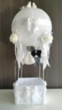 hot air balloon huwelijk decoratie, presentatie huwelijkbedankjes