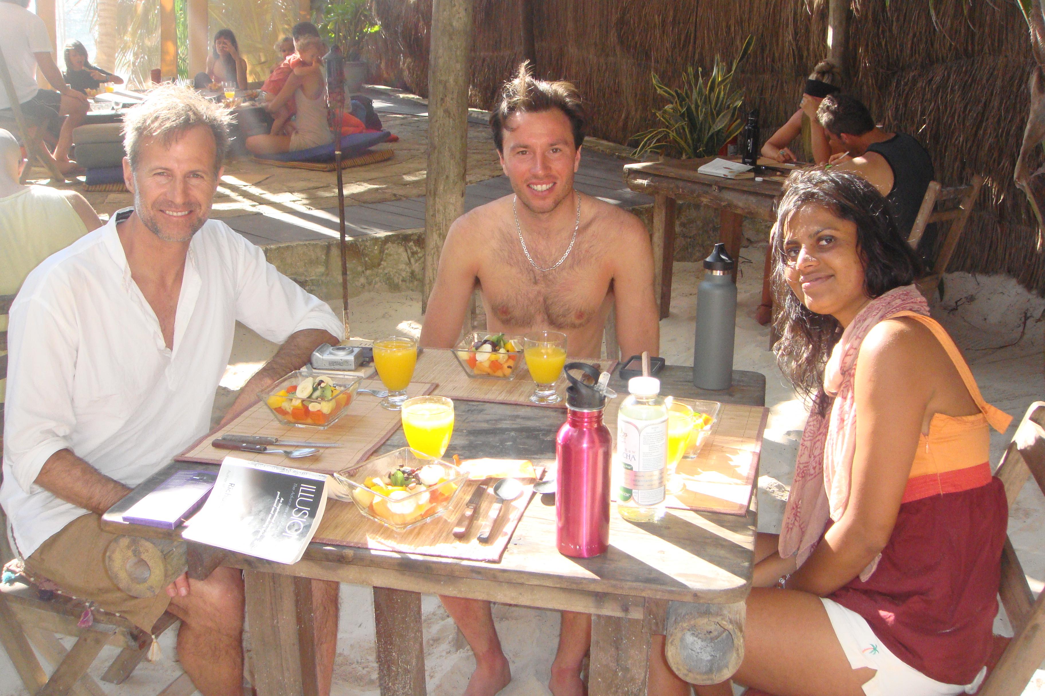 Enjoying breakfast together :)