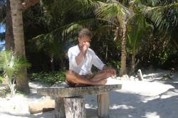 Pranayama on the beach
