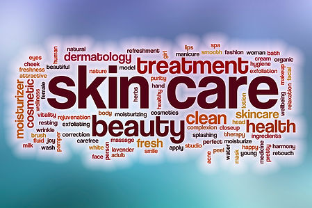 skin care text collage image