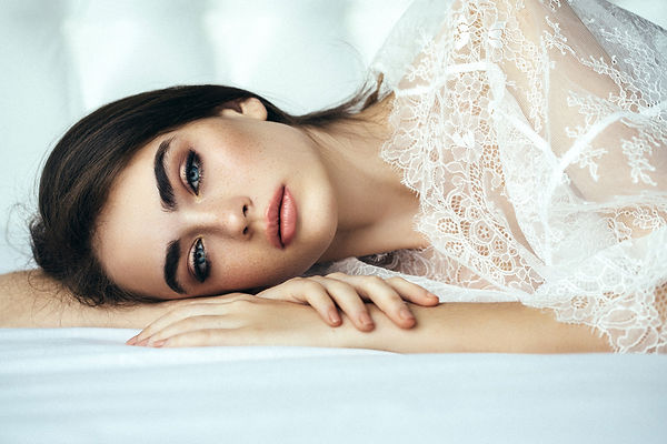 gorgeous woman laying down