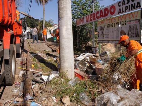 Bota-Fora recolhe 226 toneladas de resíduos em agosto