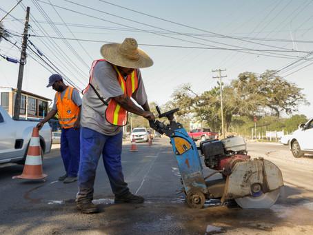 Avenida Edgar Pires de Castro recebe mais uma faixa