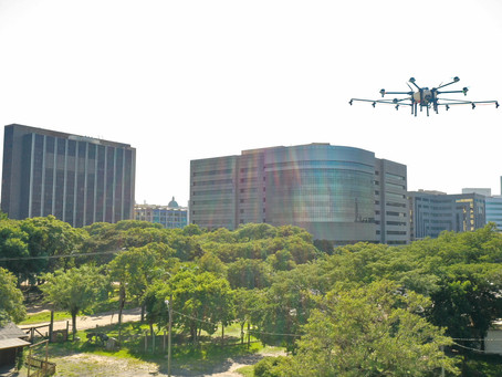 Porto Alegre testa drones para descontaminar áreas públicas