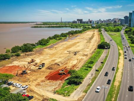 Revitalização do trecho 3 da orla do Guaíba recebe cercamento