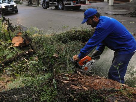Prefeitura mantém equipes nas ruas para amenizar efeitos da chuva