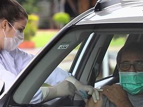 Prefeitura amplia vacinação de idosos para drive thrus